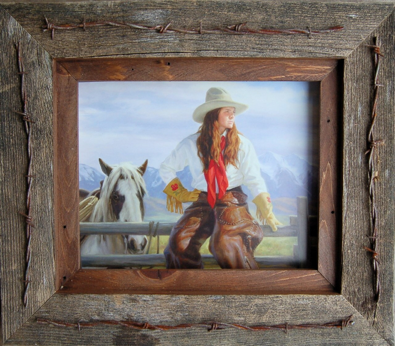 Western Frame | 8x10 Wide Western Frame with Barbed Wire