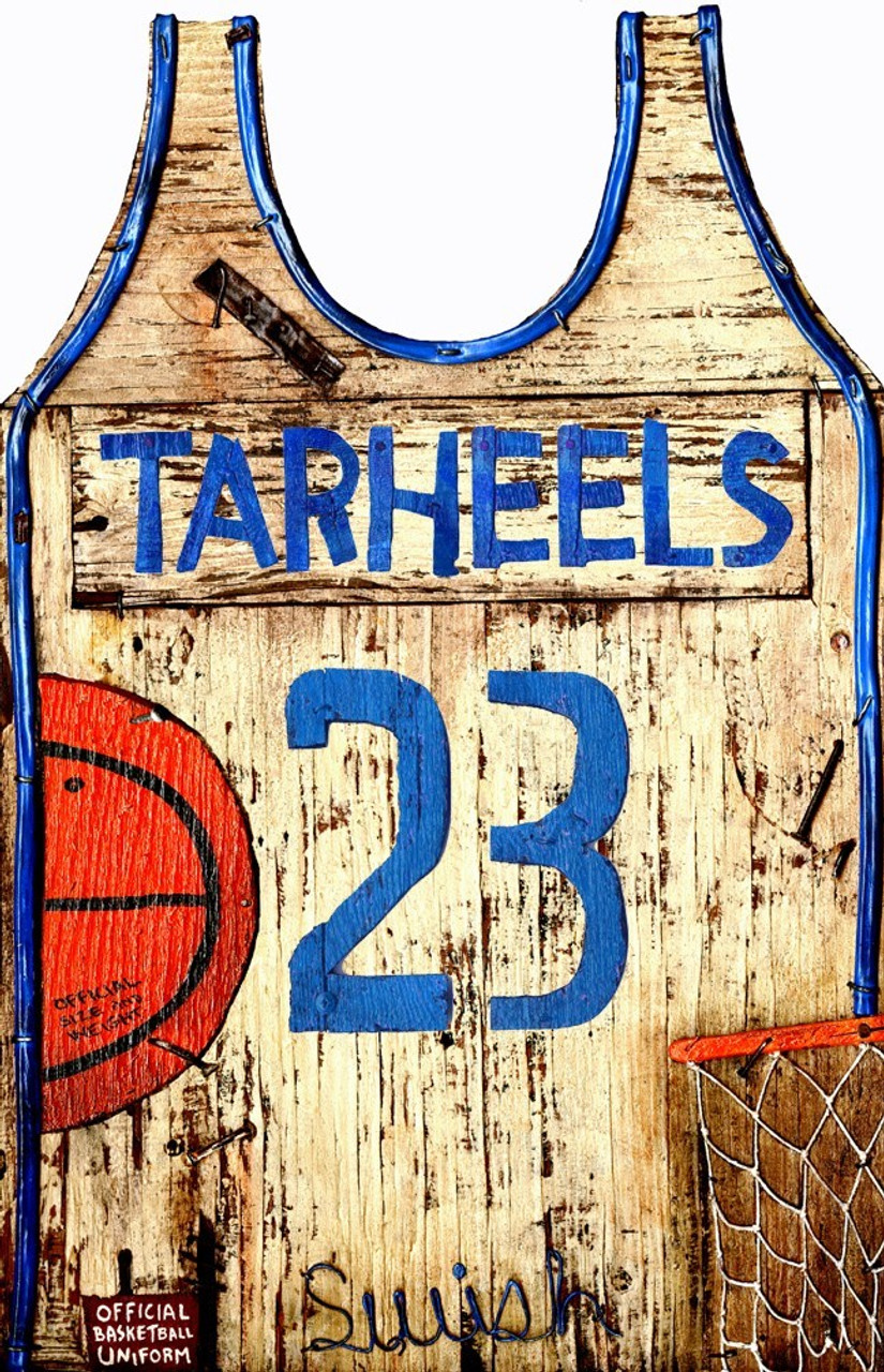 Vintage Basketball Jersey Sign Rustic Basketball Decor