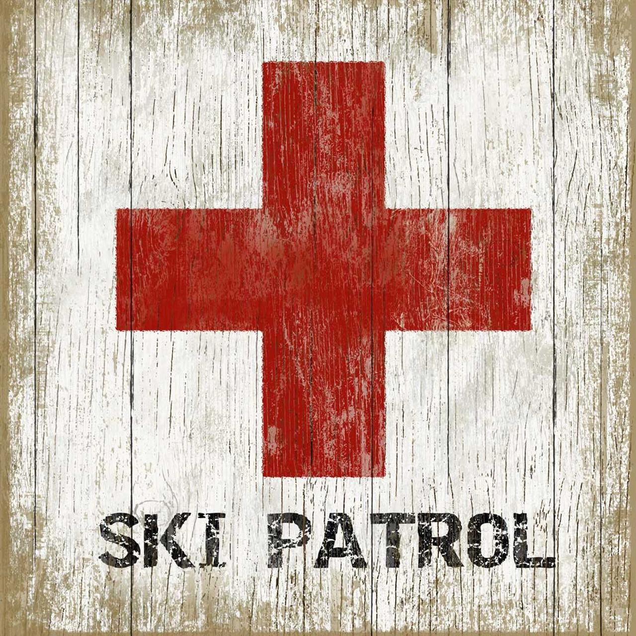 Vintage Ski Signs Ski Patrol Sign