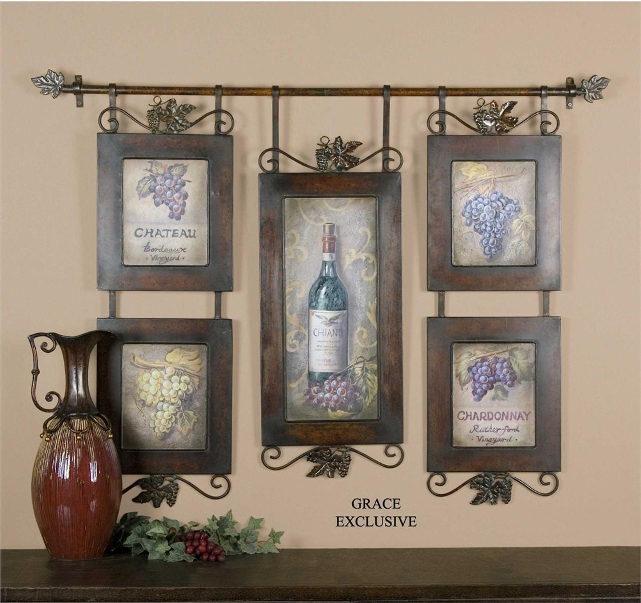 Uttermost Hanging Wine Framed Art Mybarnwoodframes Com