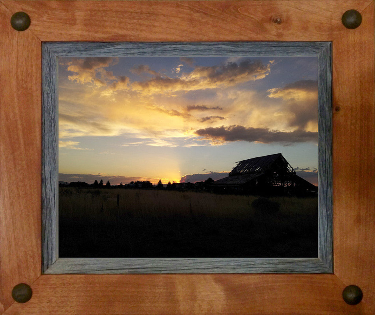 Western Frames | Alder and Barnwood 8x10 Frame with tacks