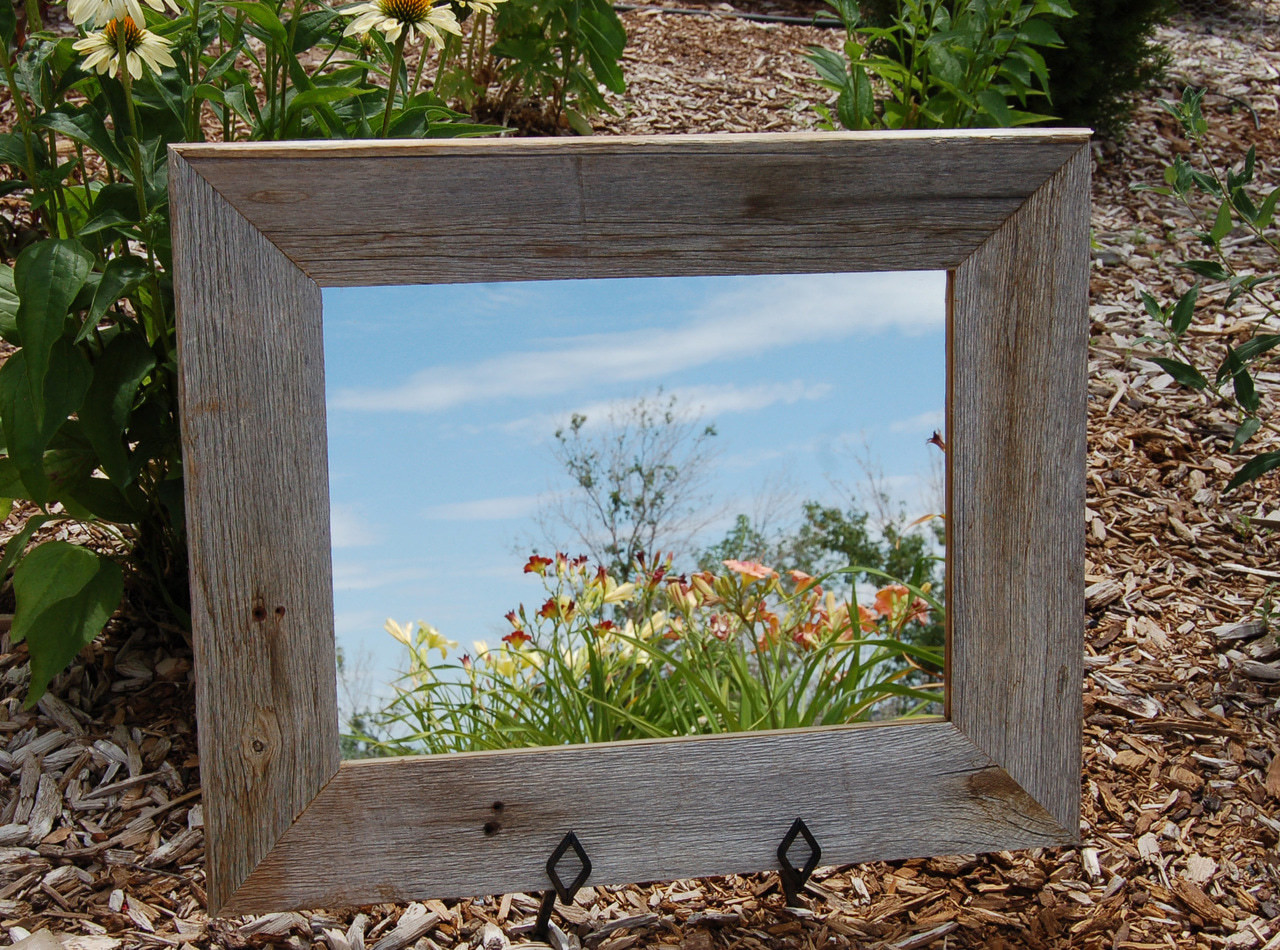 Reclaimed Barnwood Mirror | Beveled Wood | Ships Free