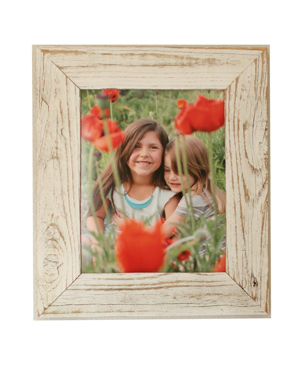 18x24 Antique White Barnwood Picture Frame | Whitewashed Reclaimed Wood