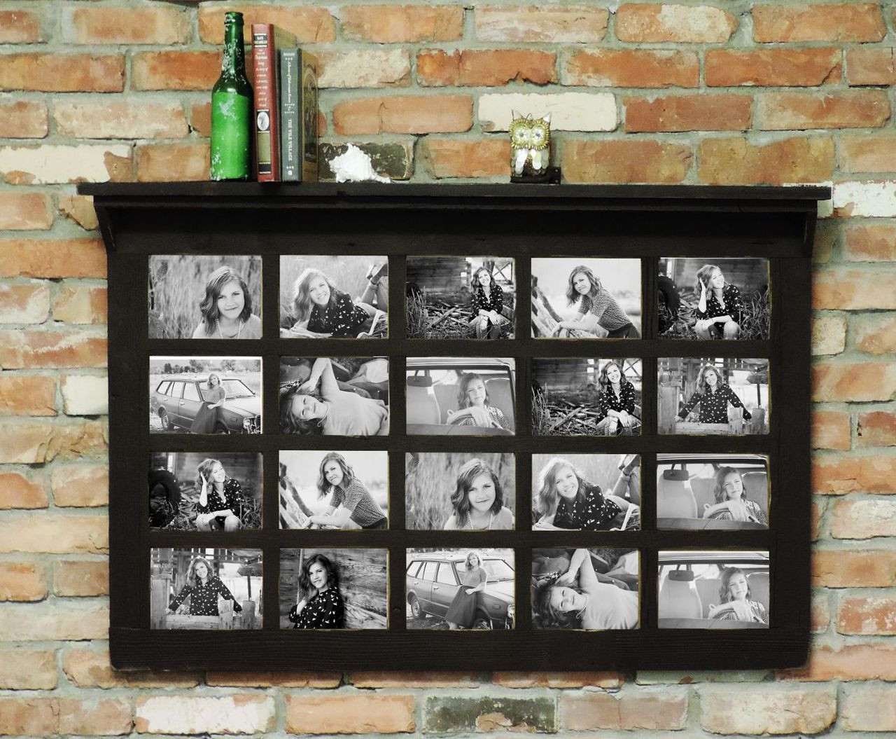 Family Collage Frame with Decorative Shelf | Farmhouse Style | 20 ...