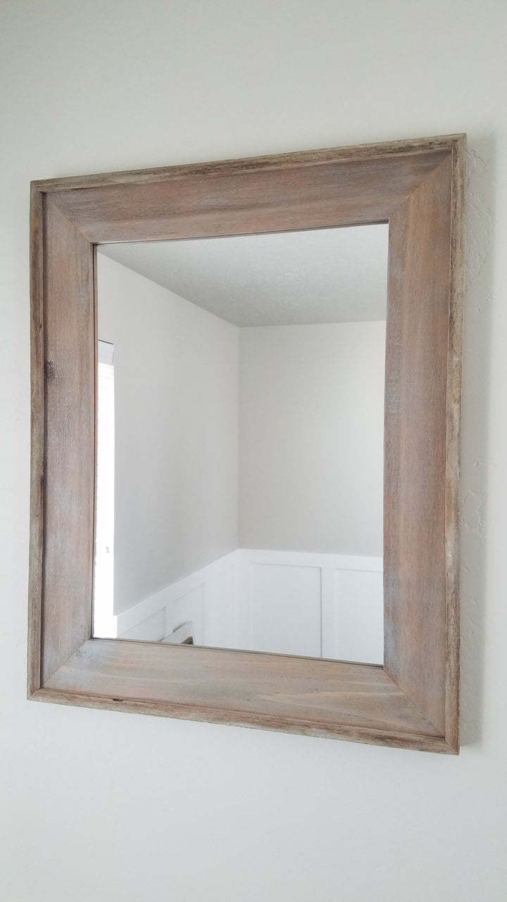 Rustic Mirrors | Weathered-Looking Cedar | Brown Wood Mirror