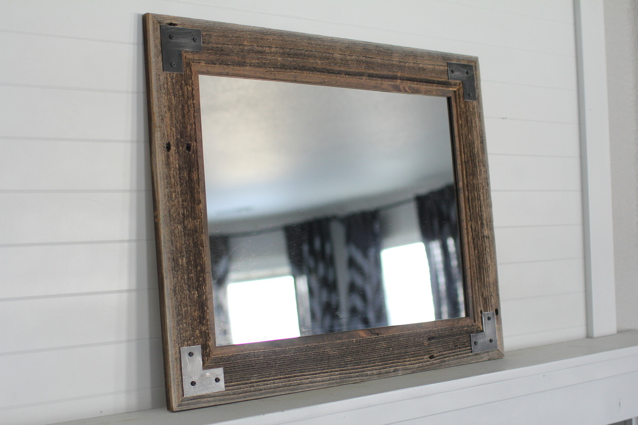 Industrial mirror with modern farmhouse style montana mirror - Farmhouse style bathroom mirrors ...