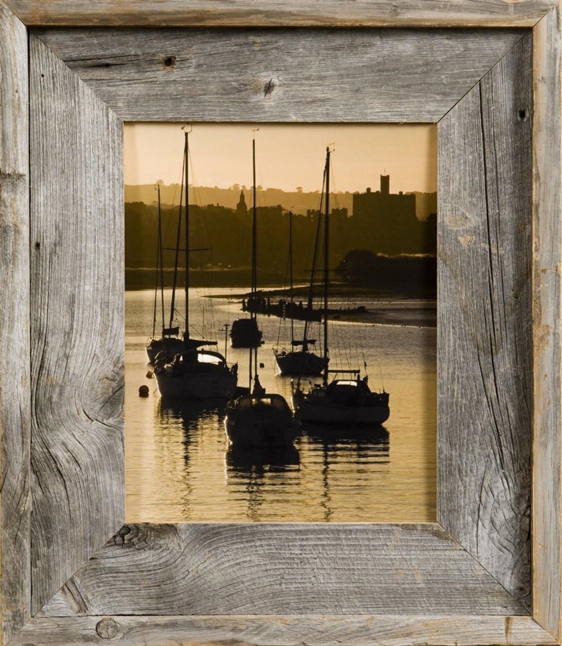 barnwood picture frames 4x6 rustic photo frame. Black Bedroom Furniture Sets. Home Design Ideas