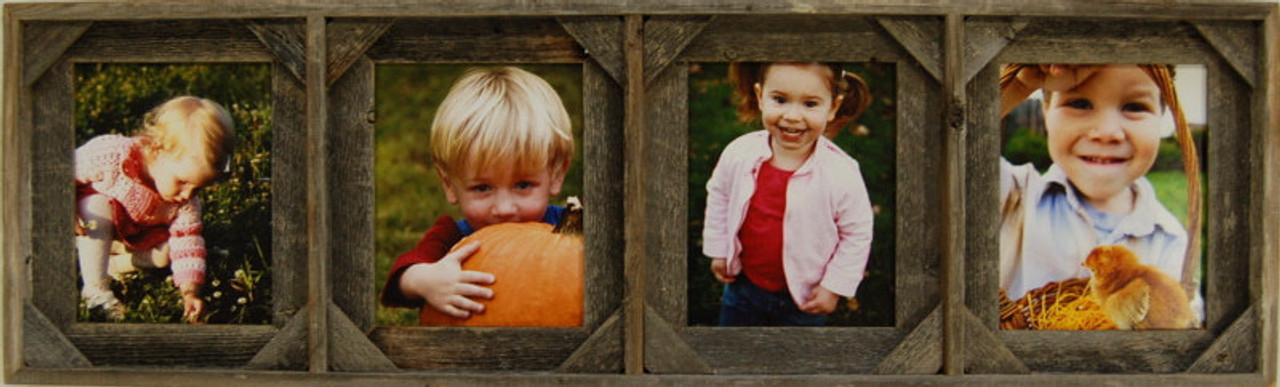 Collage Frames Barnwood With 4 Picture Openings 8x10