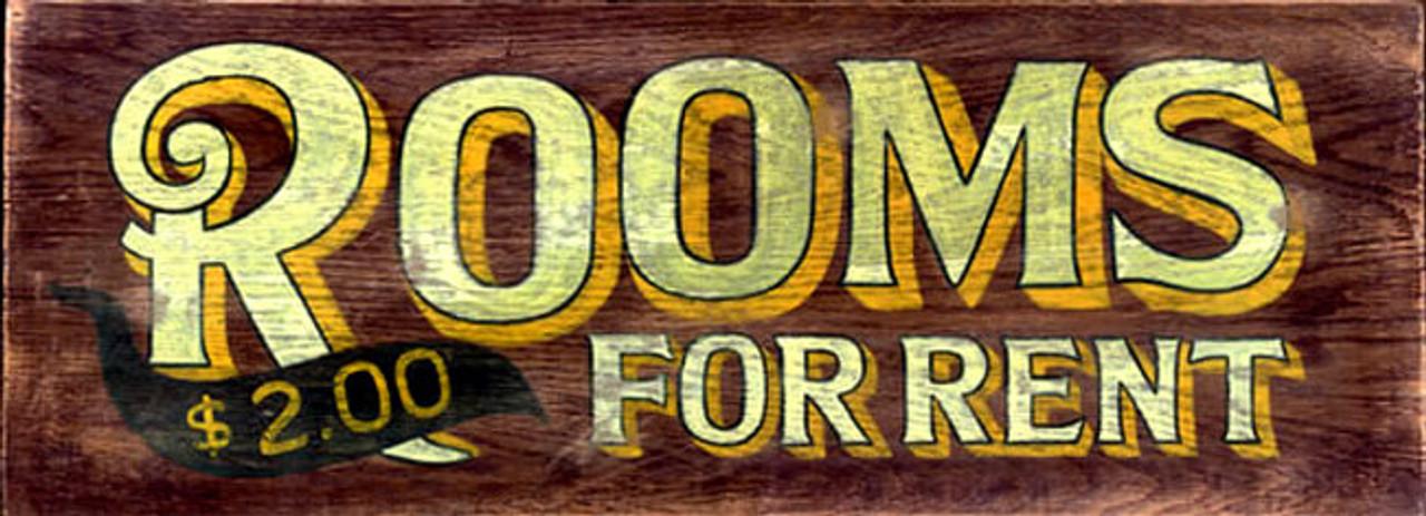 Rooms For Rent Vintage Sign Nostalgic Rustic Hotel D 233 Cor