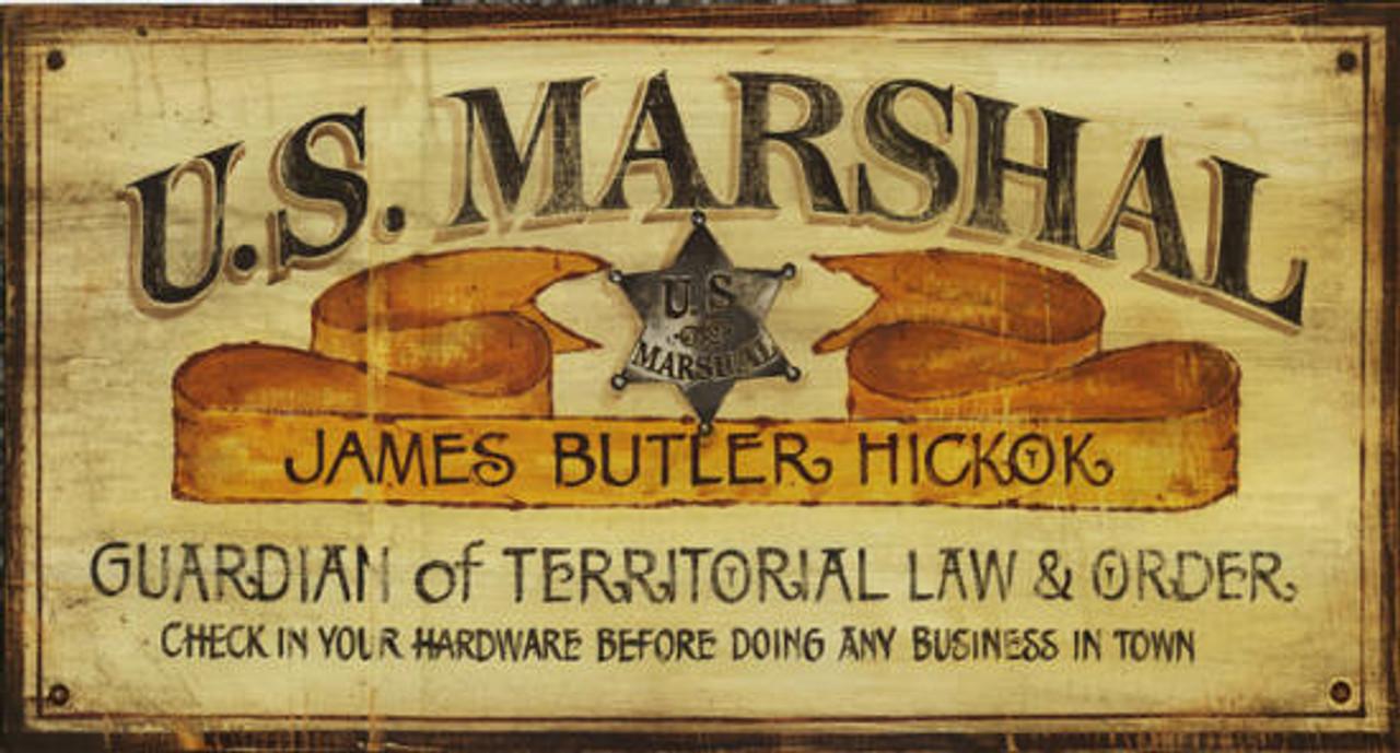 Vintage Western Decor Us Marshall Rustic Sign
