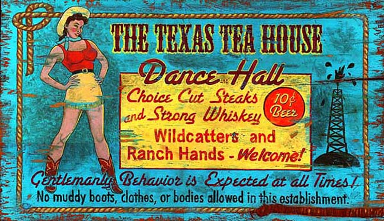 Vintage Western Decor Texas Tea House Retro Western