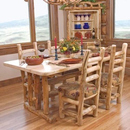 Log Dining Room Tables: Comfy Log Armchair - Optional Cushion