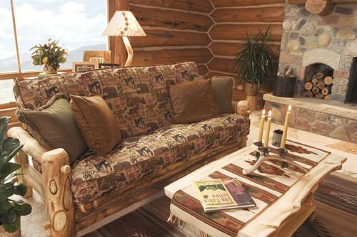 Log Easy Chair Comfy Log Armchair Optional Cushion