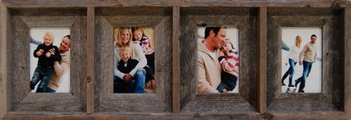 Collage Picture Frames 8x10 Reclaimed Wood 4 Opening Frame
