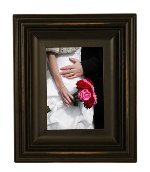 black picture frames 5x7 wood frame with glass