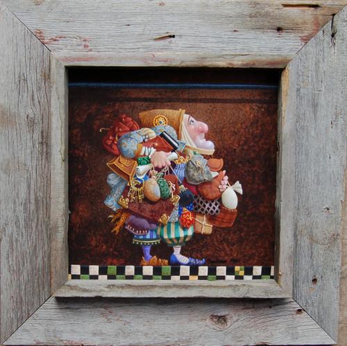 Shadow Box Frame 12x12 Opening Reclaimed Barnwood