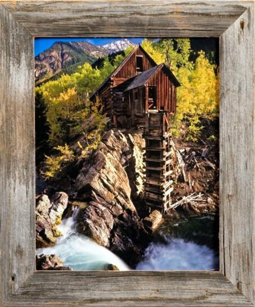 Natural Reclaimed Barnwood   1.5 Inch Homestead Series Rustic Wood Frame
