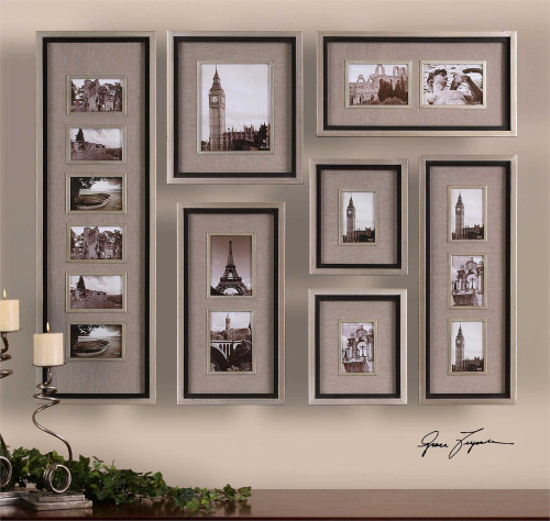 Uttermost Massena Metal And Linen Collage Frame Collection