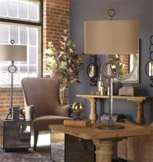 Uttermost Ferro Cast Iron Floor Lamp Mybarnwoodframes Com