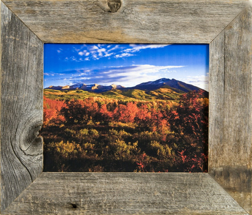Rustic Wood Picture Frames   9x12 Barnwood Frame - Reclaimed Wood