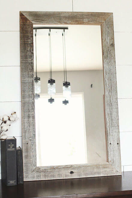 Homestead Rustic Mirror | Reclaimed Barnwood | Free Shipping