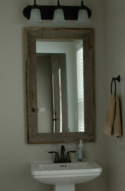 Rustic Mirrors | Barnwood Mirror Reclaimed Aged Wood ...