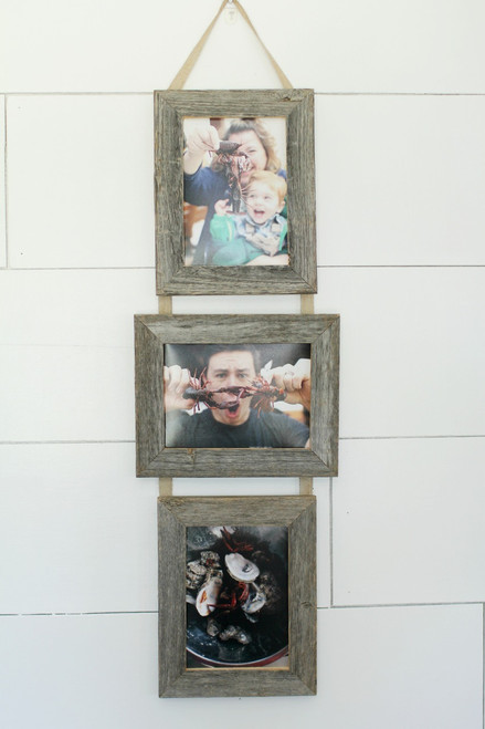 5X7 Three Barnwood Hanging Collage Frame Set | Multi Photo Frame