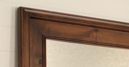 Wood Mirrors Espresso Alder Wood Mirror Custom Sizing