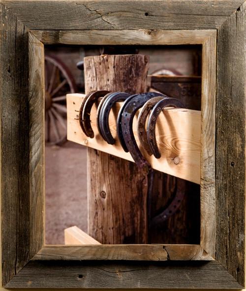 Barnwood Frames   Rustic Reclaimed Wood Picture Frames   Custom Sizes