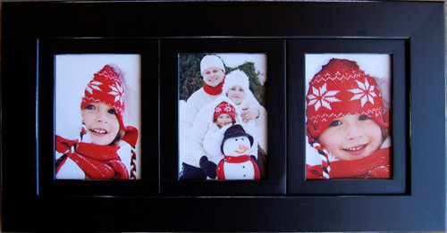 Collage Frames Six 5x7 Openings Wood Picture Frame