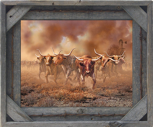 Western Frames - Barnwood and Barbed Wire Picture Frame