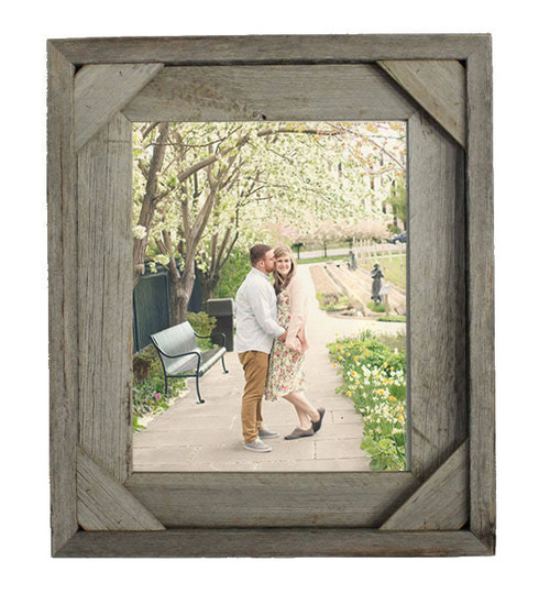 Barnwood Picture Frames | Reclaimed Wood Frames with Cornerblock Edges