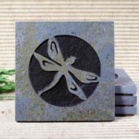 Medallion Copper Slate Coasters
