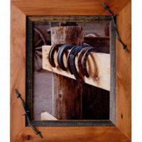 Sagebrush Rustic Frames -  Alder & barbed wire