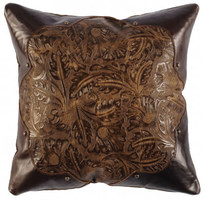 Embossed Leather Pillows
