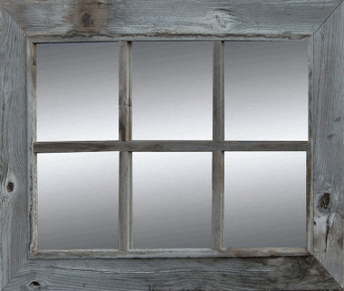 rustic window pane mirror rustic barnwood mirror