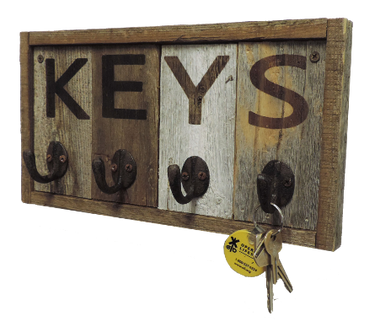 Wall Key Holder Rustic Reclaimed Wood Cottage Chic Style