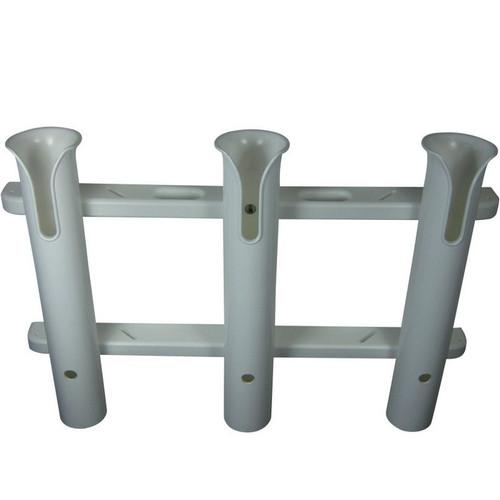 TACO Metals 3-Rod White PVC Deluxe Fishing Rod Rack
