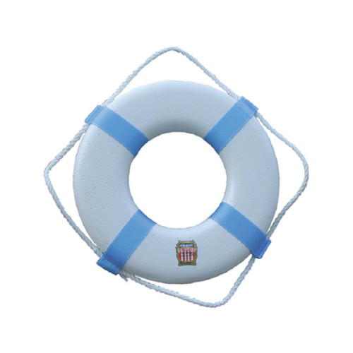 Cal-June Plastic Life Ring Buoy, 17""