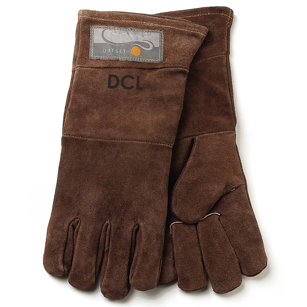 Personalized Leather Grill Gloves