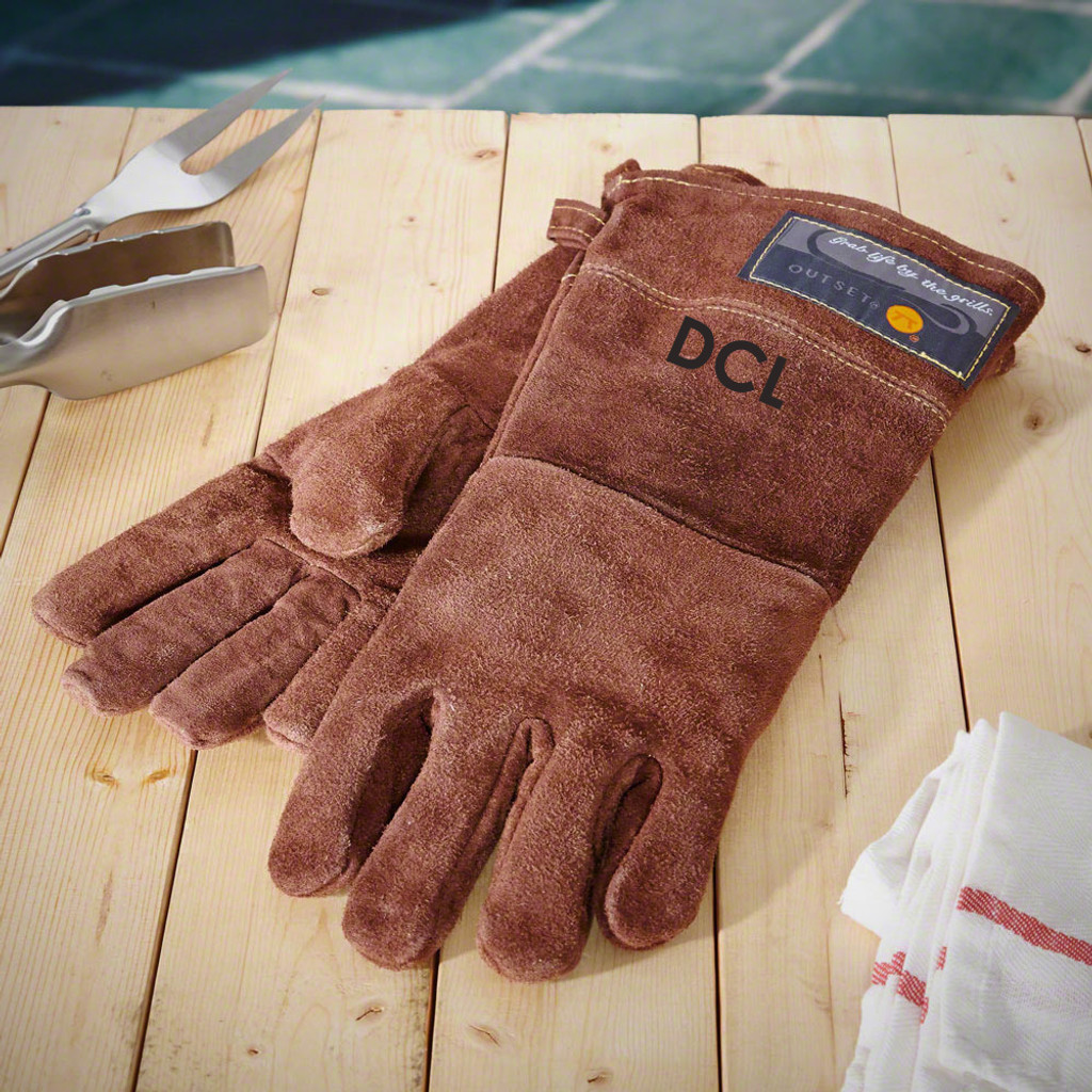 Custom Leather Grill Gloves