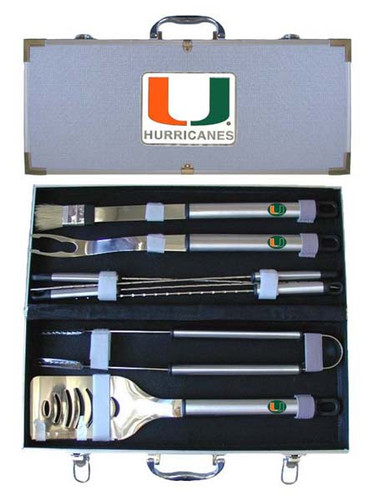 Miami Hurricanes BBQ Tool Set