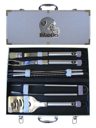 Oakland Raiders BBQ Tool Set