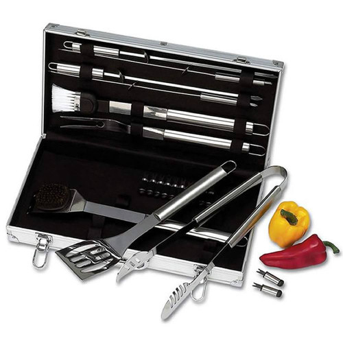 Stainless Steel BBQ Tool Set With Case KTBQSS22