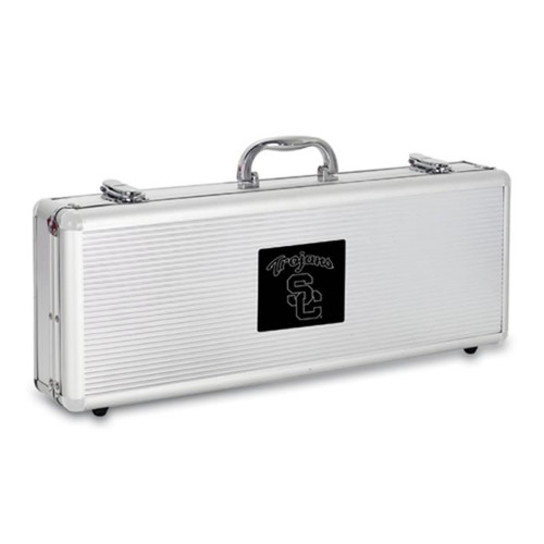 USC Trojans BBQ Tools and Engraved Case
