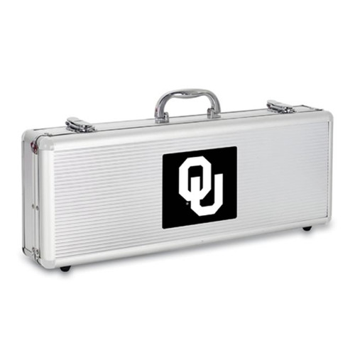 Oklahoma Sooners BBQ Tools and Engraved Case