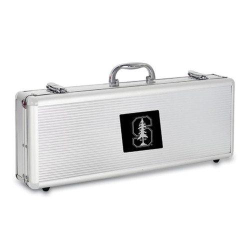 Stanford Cardinals BBQ Tools and Engraved Case