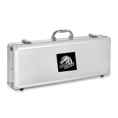 Boise State Broncos BBQ Tools and Engraved Case