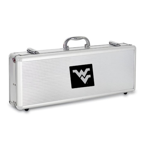 West Virginia Mountaineers BBQ Tools and Engraved Case