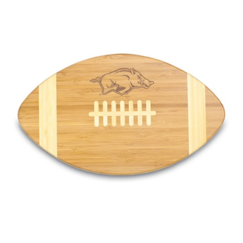 Arkansas Razorbacks Engraved Football Cutting Board